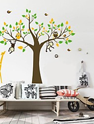 Wall Stickers Wall Decals, Nursery Giraffe Monkey Home Decor PVC Wall Stickers