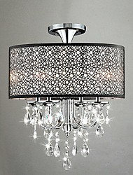 Flush Mount ,  Traditional/Classic Electroplated Feature for Crystal Metal Bedroom Dining Room Study Room/Office Hallway