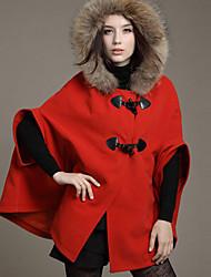 Rlk белье меховой воротник пальто 2108 красный, синий