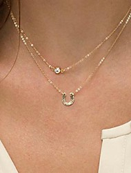 Golden Pendant Necklaces Alloy / Imitation Pearl Daily / Casual Jewelry