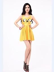 Yellow Dog Skater Dress Night Club Costume