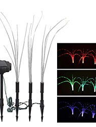 Set of 3 Solar Enchanting Color Changing Light Featured Beautiful Grass Lamp in 3 Lights