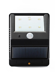 6-LED PIR Solar Power Motion Sensor Wall Garden Street Lamp