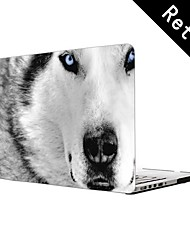 """Best Ever White Wolf Design Full-Body Protective Plastic Case for 13""""/15"""" MacBook-Pro with Retina Display"""