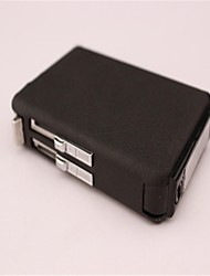 Ten Automatic Cigarette Case Black Frosted Glass Butane Lighter