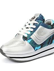 Chaussures femme ( Bleu/Rose/Gris ) - Cuir - Marche