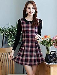 Women's Work Dress Mini Long Sleeve Multi-color Spring / Fall / Winter