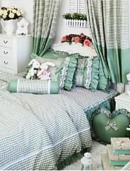 fadfay @ Корейский Принцесса зеленый постельных принадлежностей дизайнеры девушки зонтик трепал пододеяльник установить в загородном кроватей королеву