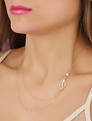 Necklace Chain Necklaces Jewelry Alloy / Imitation Pearl Party Gold 1pc Gift
