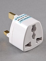 New US/ AU/ EU To UK AC Power Travel Adapter Plug 3 Pins White Plastic Converter