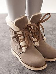 talon plat des bottes de neige de femmes Loubo