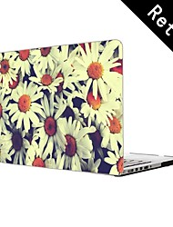 "Pretty Flowers Design Full-Body Protective Plastic Case for 13""/15"" MacBook-Pro with Retina Display"