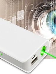 lt-oz11 externe batterij oplaadbare groene laser pointer (2 MW, 532nm, 1x18650, wit)