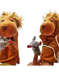 2pcs el león y los títeres de dedo del ratón niños hablan prop