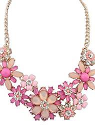europäischen Stil Übertreibung reiche Blüten wilde Mode Halskette (weitere Farben)