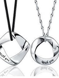 collar de la impresión de las letras ding ding mujeres coupl (un par de venta)