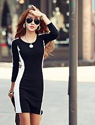 Women's Sexy Fashion Long Sleeve Slim Dress