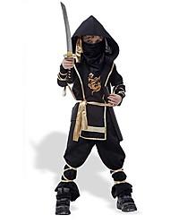 traje de Halloween traje ninja do garoto negro