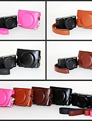 Pajiatu® Fashion PU Leather Litchi Grain Camera Protective Case Bag Cover for Sony DCS-RX100II M2/RX100 III M3