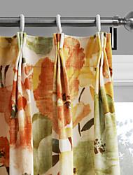 philips giovane - (due pannelli) colori contemporanei caldi sboccia tenda