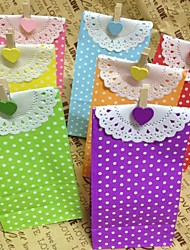 5pcs Handwerk-Party Polka Dot Papier Mittagspause (9cm * 6cm * 18cm)