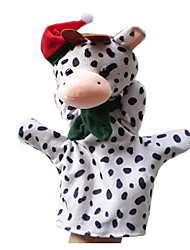 1PCS Christmas Cow Parent-child Hand&Finger Puppets Kids Talk Prop