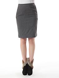 parte superior de la falda del color sólido los towm de las mujeres