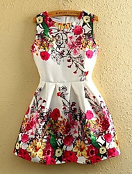 Women' Sleeveless Floral Printed Dress