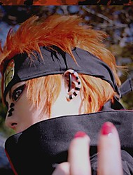 Cosplay Wigs Naruto Cosplay Orange Short Anime Cosplay Wigs 35 CM Heat Resistant Fiber Male