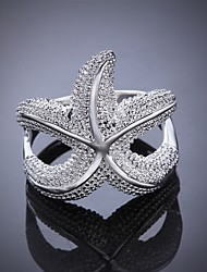 Simple Star Silver Plated Ring(Silver)(1Pc)
