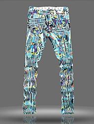 Men's Jeans , Casual Print Denim