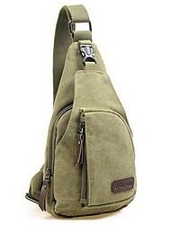 Homem Bolsas Todas as Estações Lona Sling sacos de ombro com para Casual Preto Cinzento Marron Verde Tropa Khaki