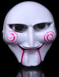 Saw Plastic Material Fancy Dress Party Halloween Mask (Random Color)