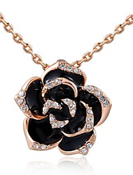 Women's Pendant Necklaces Crystal Fashion Silver Golden Jewelry Wedding Party Daily Casual 1pc