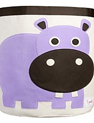 Baby Child Nursery Bedroom Laundry Tidy Toy Storage Bag Basket Hippo