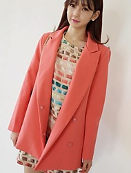 Women's Lapel Collar Covered Button Coat
