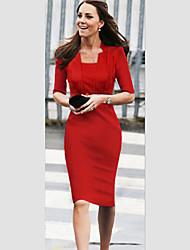 VERYM Women's Long Sleeve Mesh Slim Bodycon Dresses