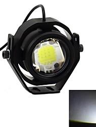 exLED High Brightness 10W 12V 850lm 6000K LED White Light Motorcycle Headlamp - Black