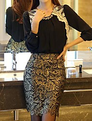 Women's Fashion OL Style Slim Sexy Lace Pencil Skirt