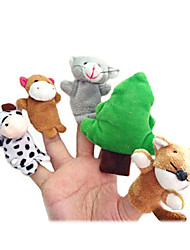 12PCS The Gingerbread Man Plush Finger Puppets Kids Talk Prop