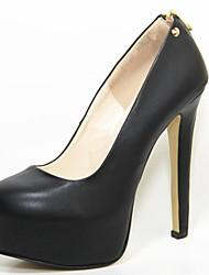 plataforma de los zapatos de cuero del talón de estilete de las mujeres bombea los zapatos con cierre de cremallera