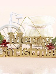 Christmas Letter Cards Merry Christmas  Building Numbers Christmas Tree Decoration (Set of  2)