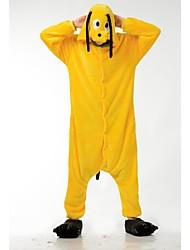 perro amarillo precioso Kigurumi ropa de dormir pijamas de franela de dibujos animados traje de halloween