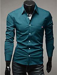 y&tresse décorée chemise cintrée des hommes zy