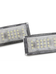 2PCS 18 LED 3528 SMD Number License Plate Light White for BMW E46 2D