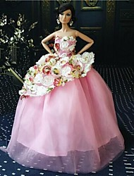 Party/Evening Dresses For Barbie Doll Purple Dresses For Girl's Doll Toy