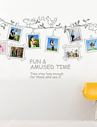 Funny PVC Birds Photo Frame Wall Stickers