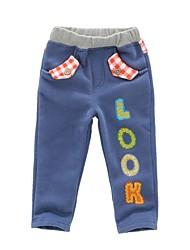 chico es en los pantalones largos de primavera y otoño ropa 100% algodón bordado