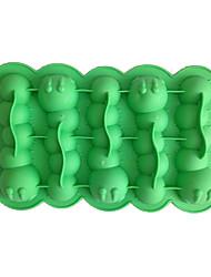 cor aleatória molde lagartas gelo de silicone molde de gelo (silicone 7.8x5x1 inch)