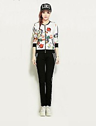 Women's Printed Sweater Suit